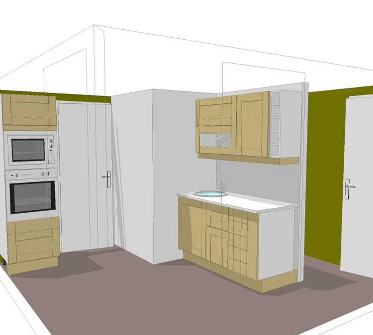 Projet kitchenette for Meuble kitchenette
